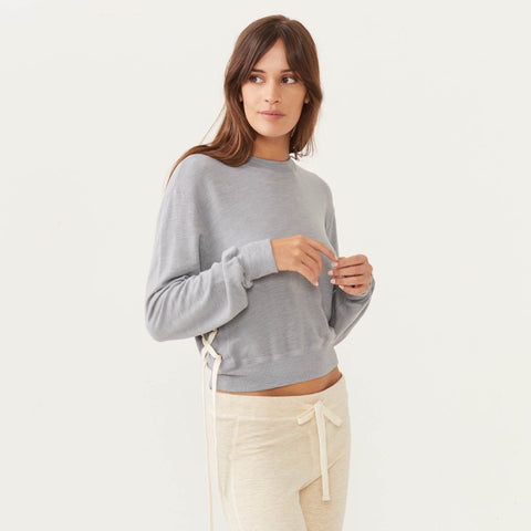 Supersoft Side Lace Sweatshirt (1482549854310)