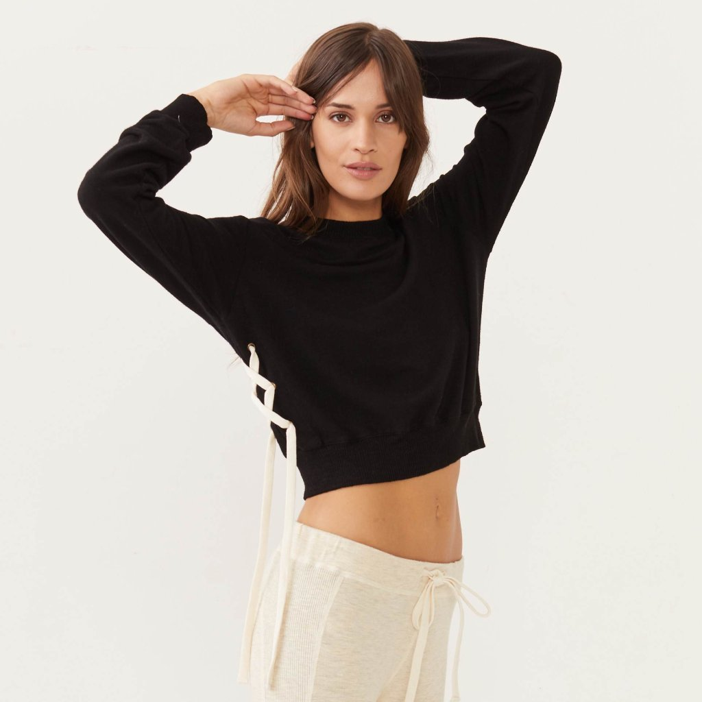 Supersoft Side Lace Sweatshirt