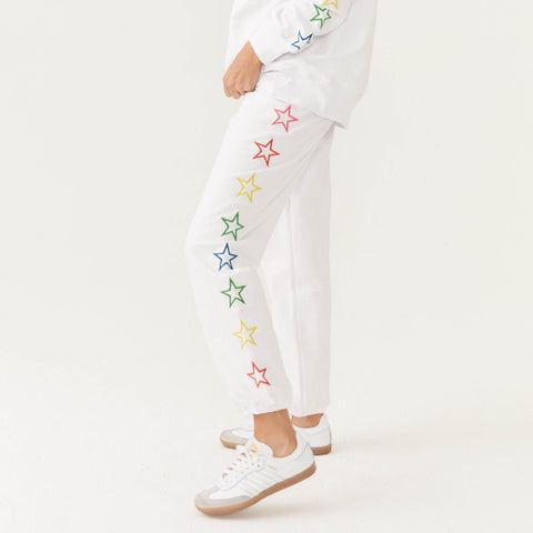 Rainbow Embroidered Star Sweats
