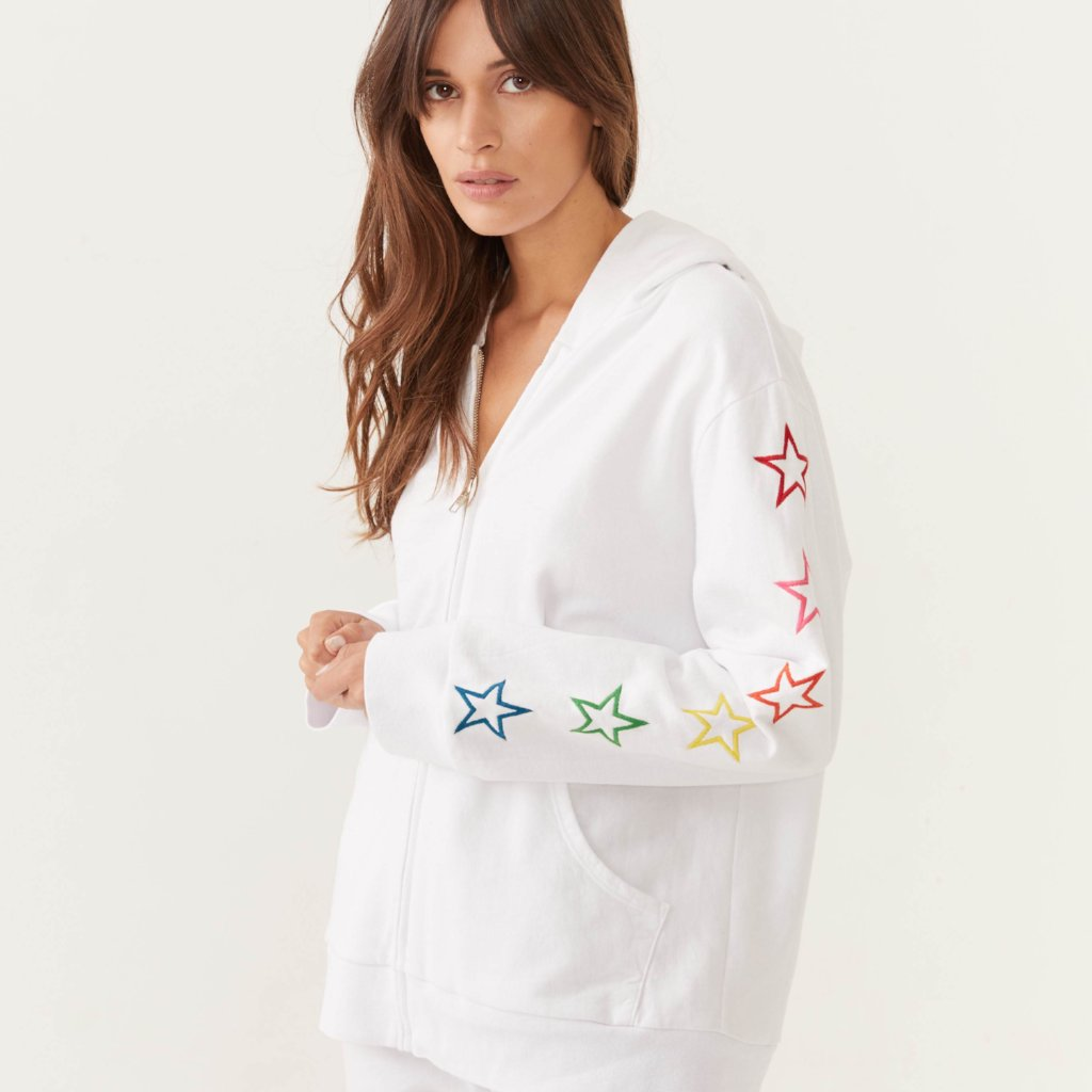 Rainbow Embroidered Star Hoody