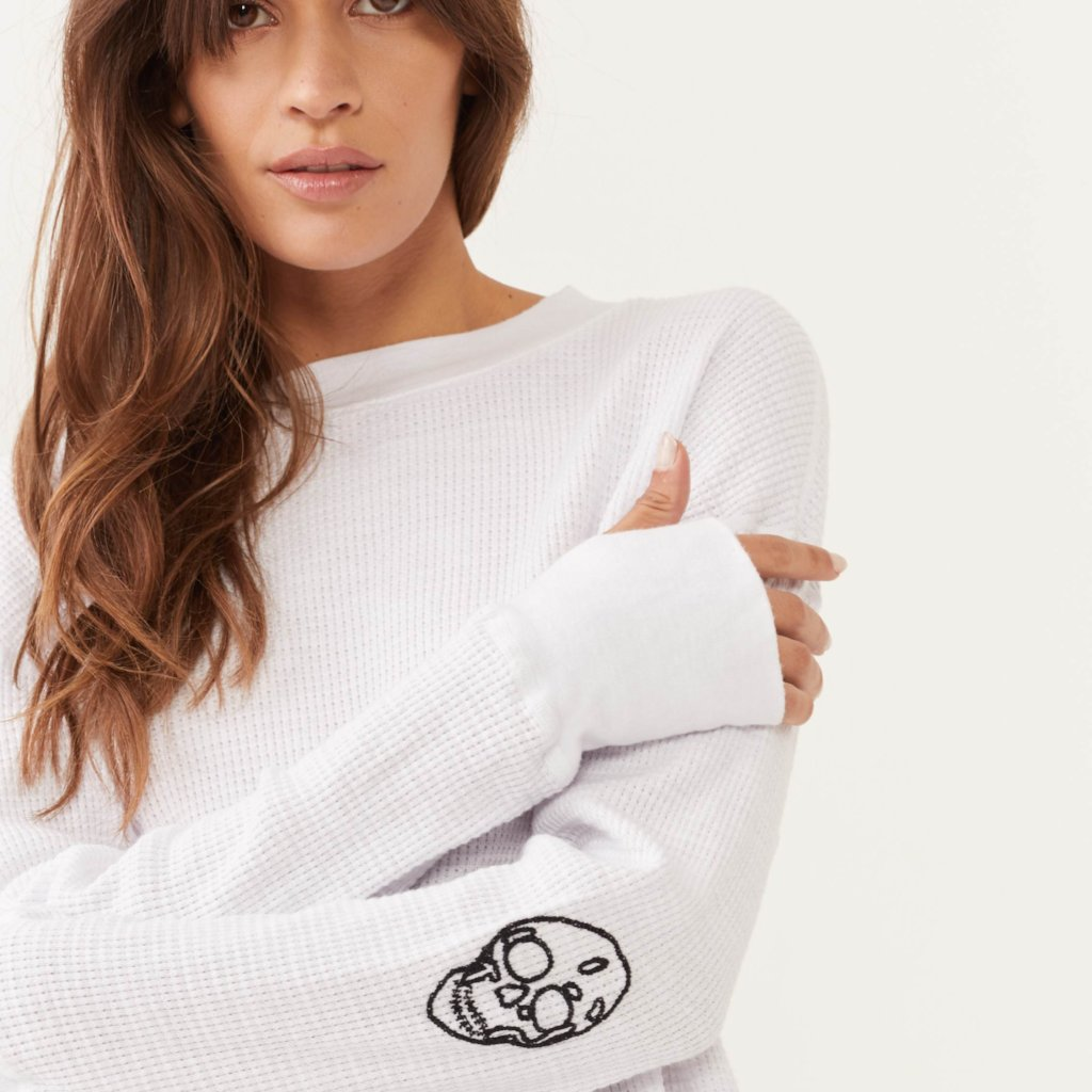 Embroidered Skull Sweatshirt