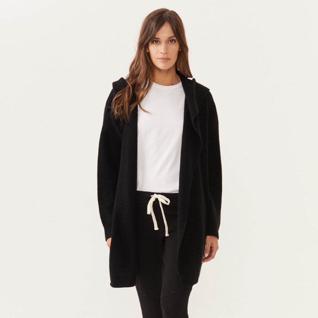 Cashmere Hooded Cardigan