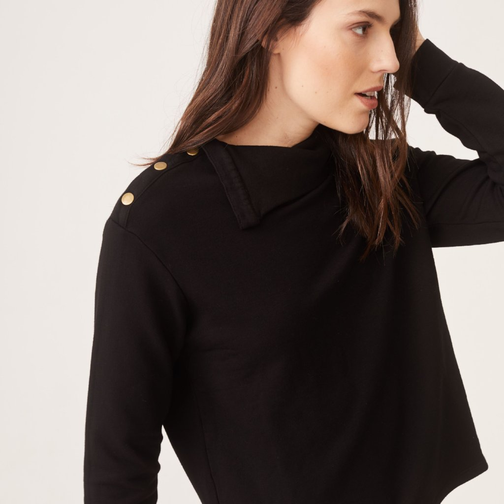 Supersoft Snap Turtleneck