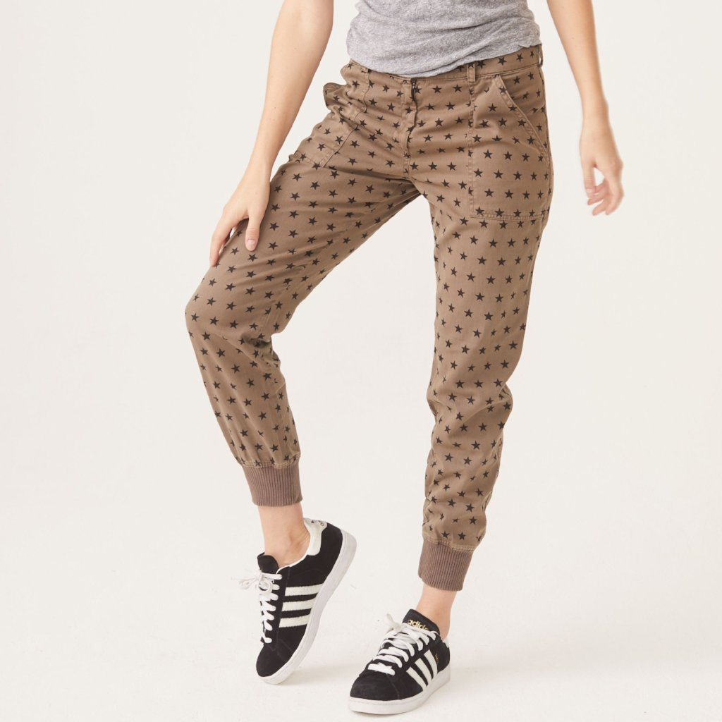 Star Woven Cuff Pant