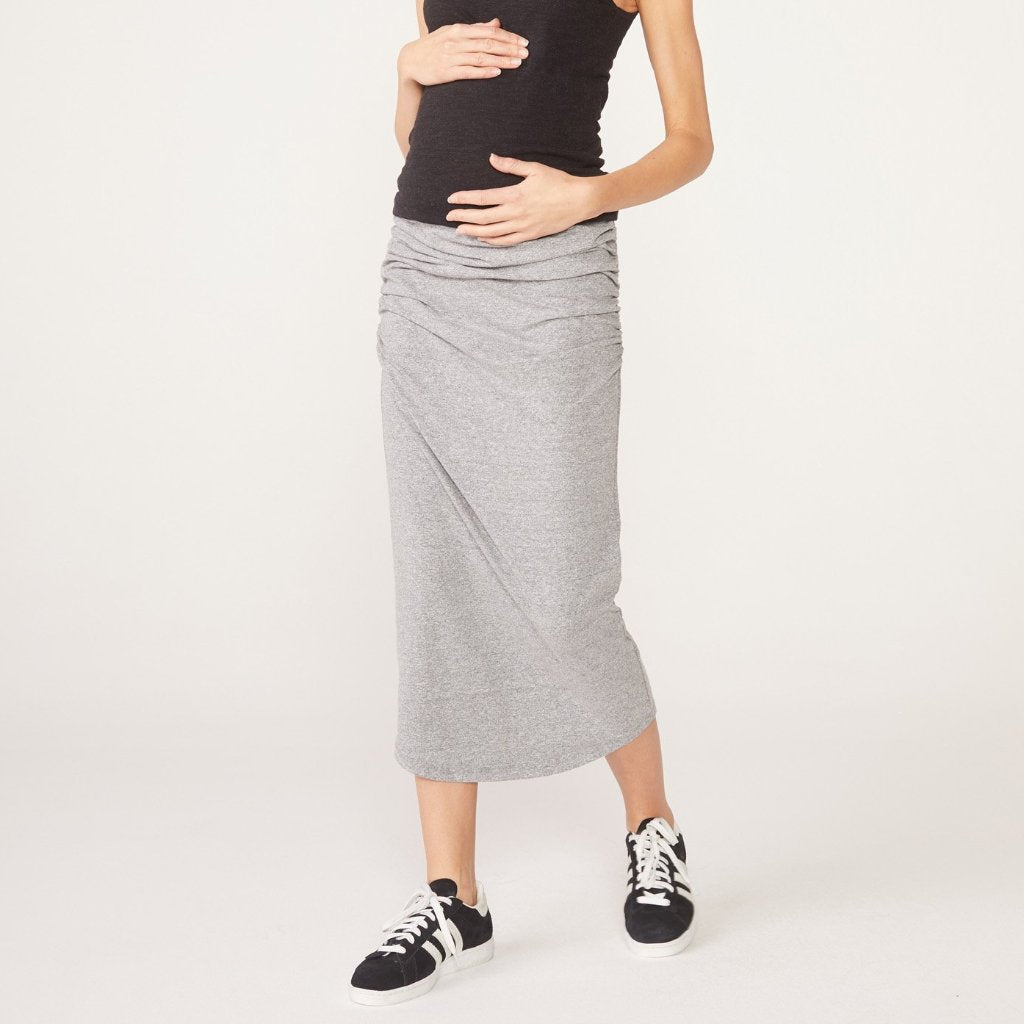 Maternity Shirred Skirt