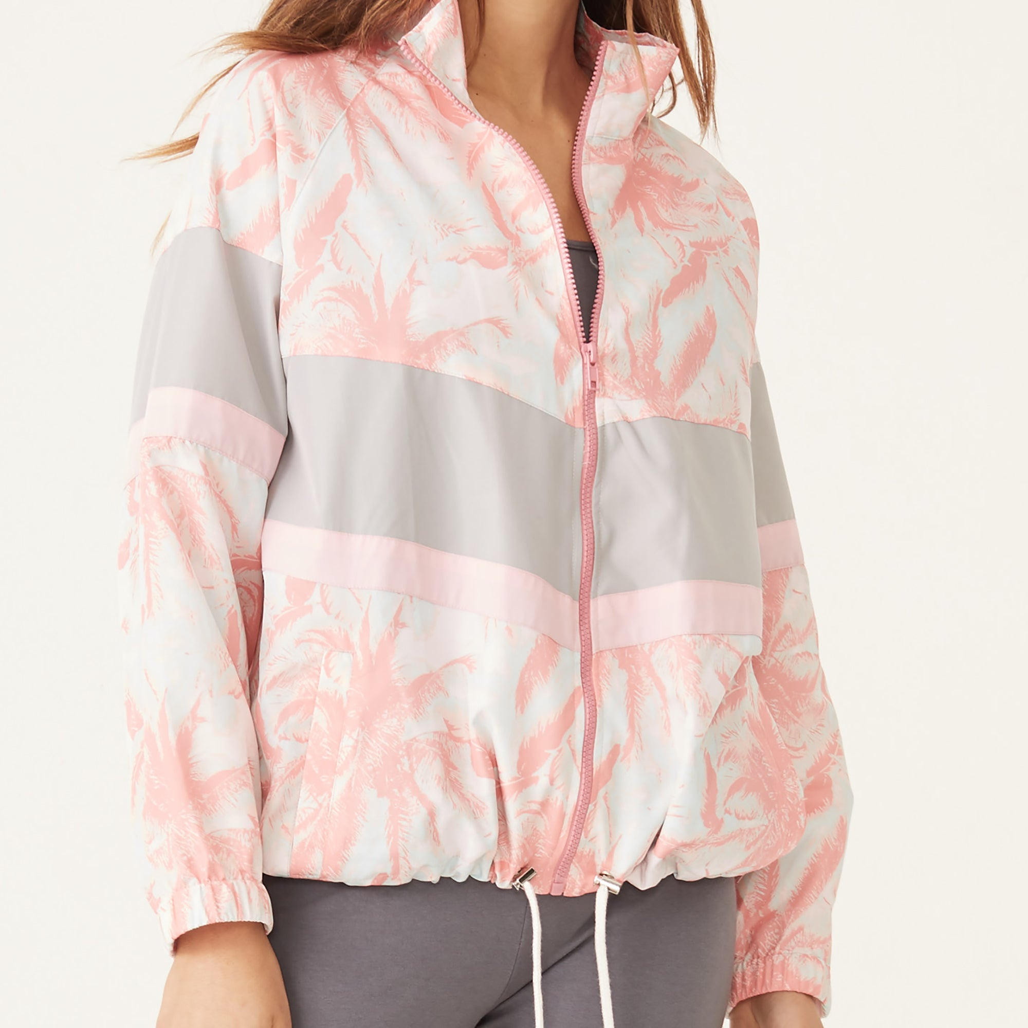 Palm Color Block Windbreaker