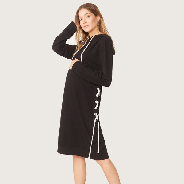 Maternity Supersoft Lace Up Dress