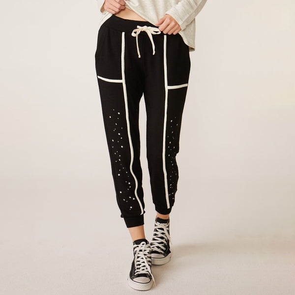 Supersoft Seamed Binding Skinny Sweats