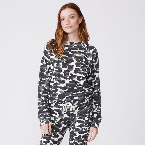 Animal Camo Slouchy Raglan