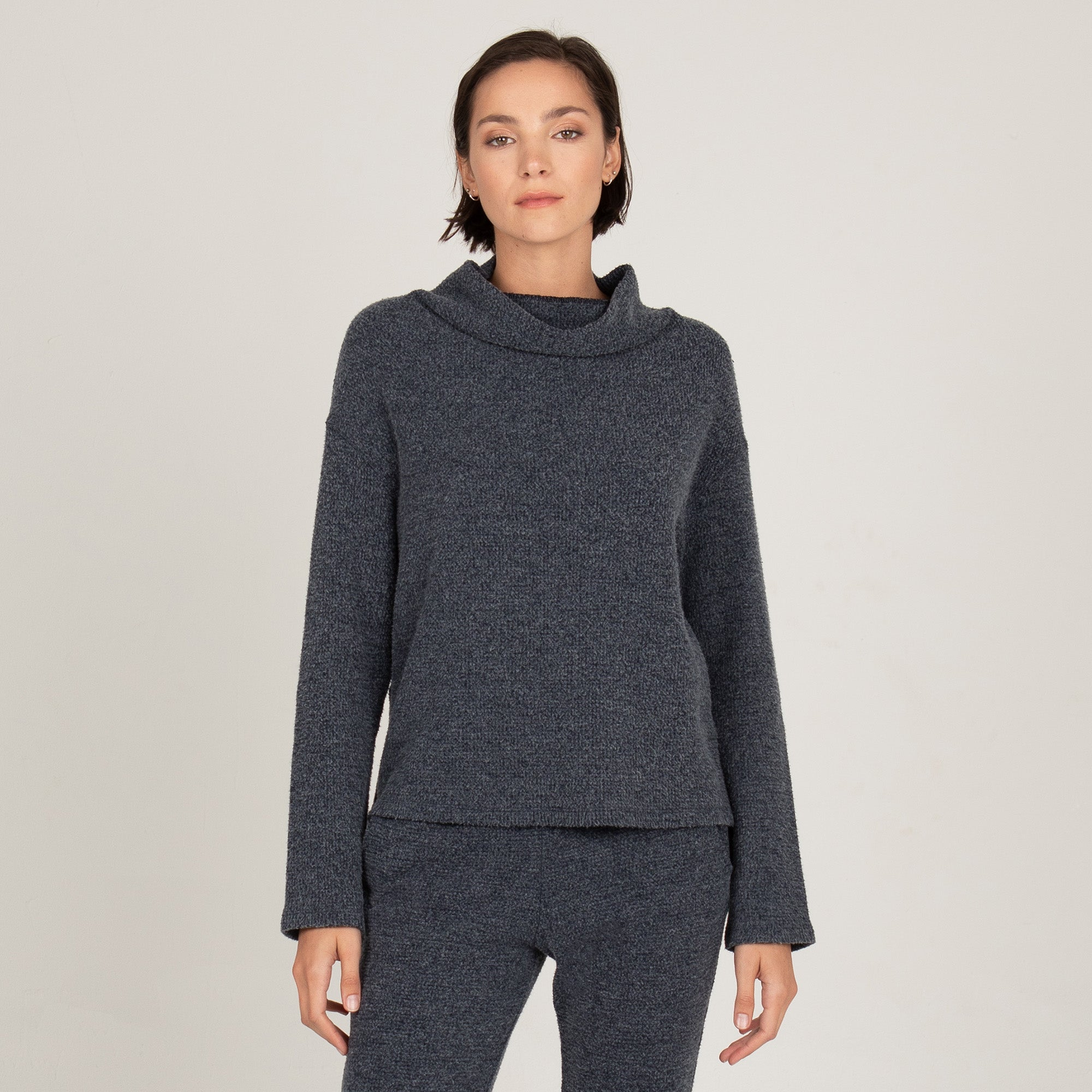 Thermal Long Sleeve Cowl Neck
