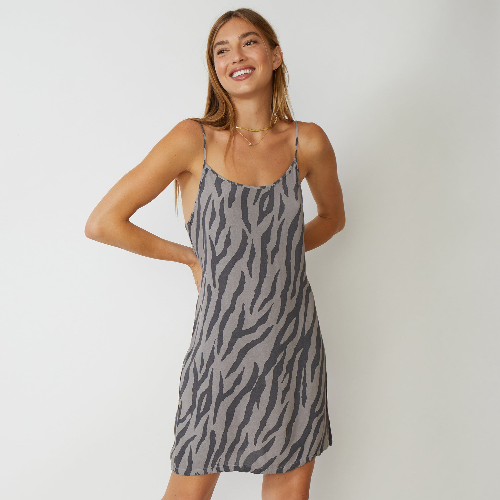Zebra Slip Dress