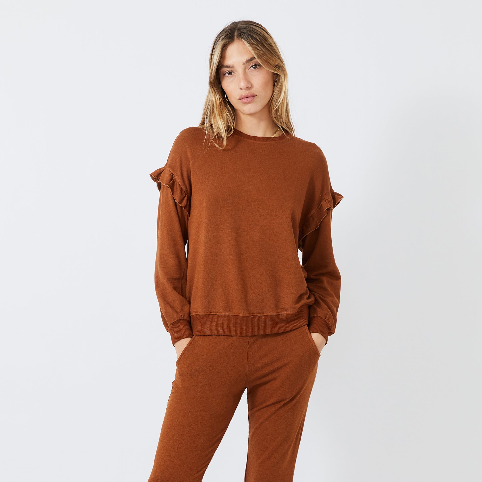 Supersoft Ruffle Sweatshirt