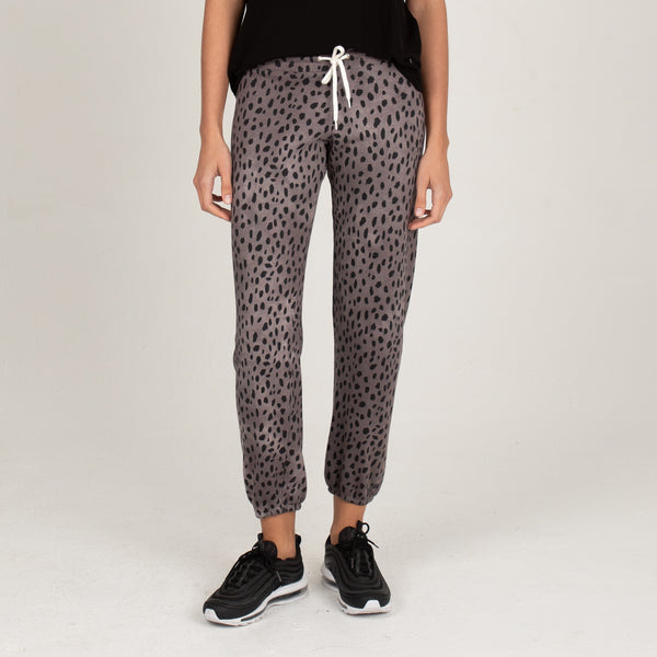 Cheetah Stitched Elastic Vintage Sweats