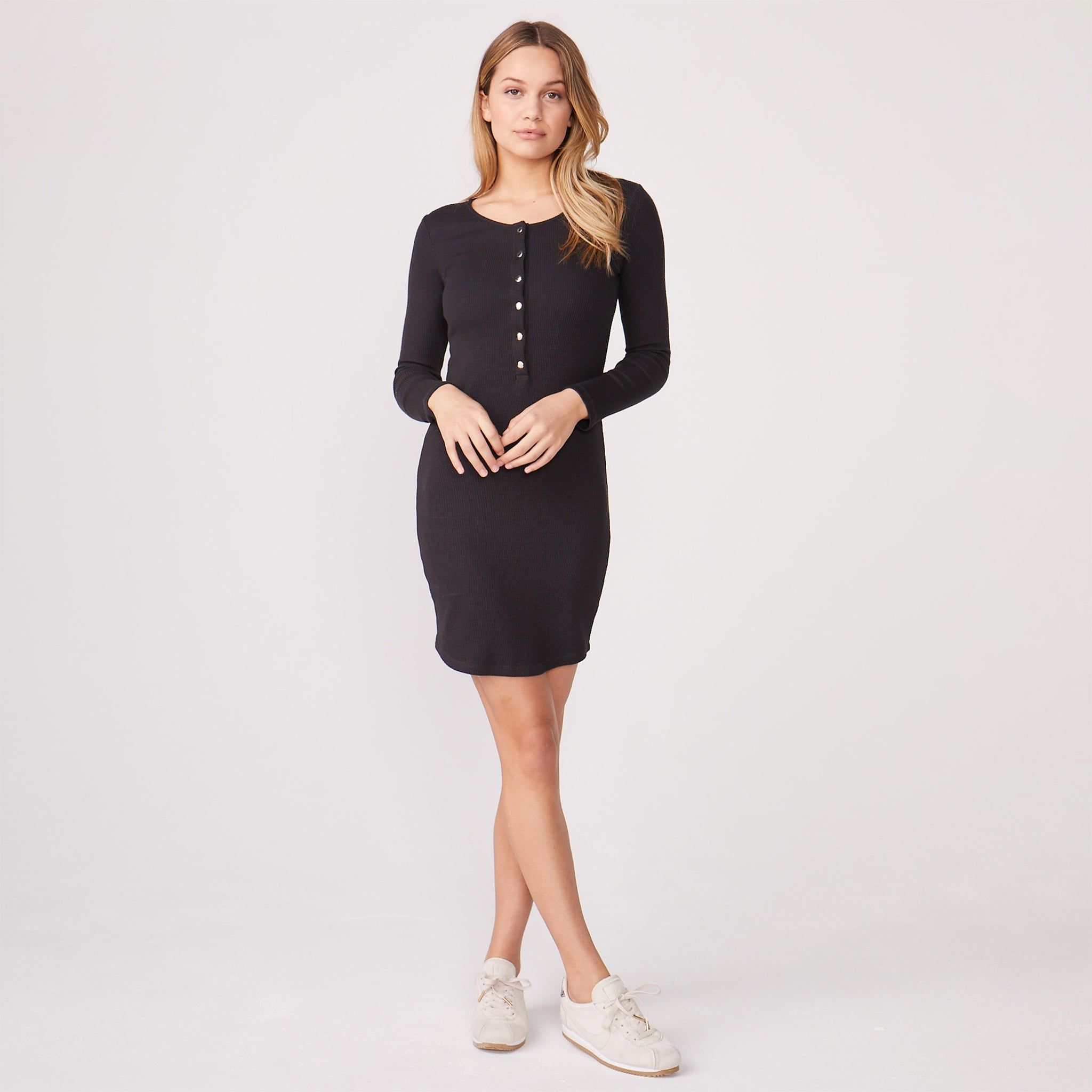 Rib Henley Dress