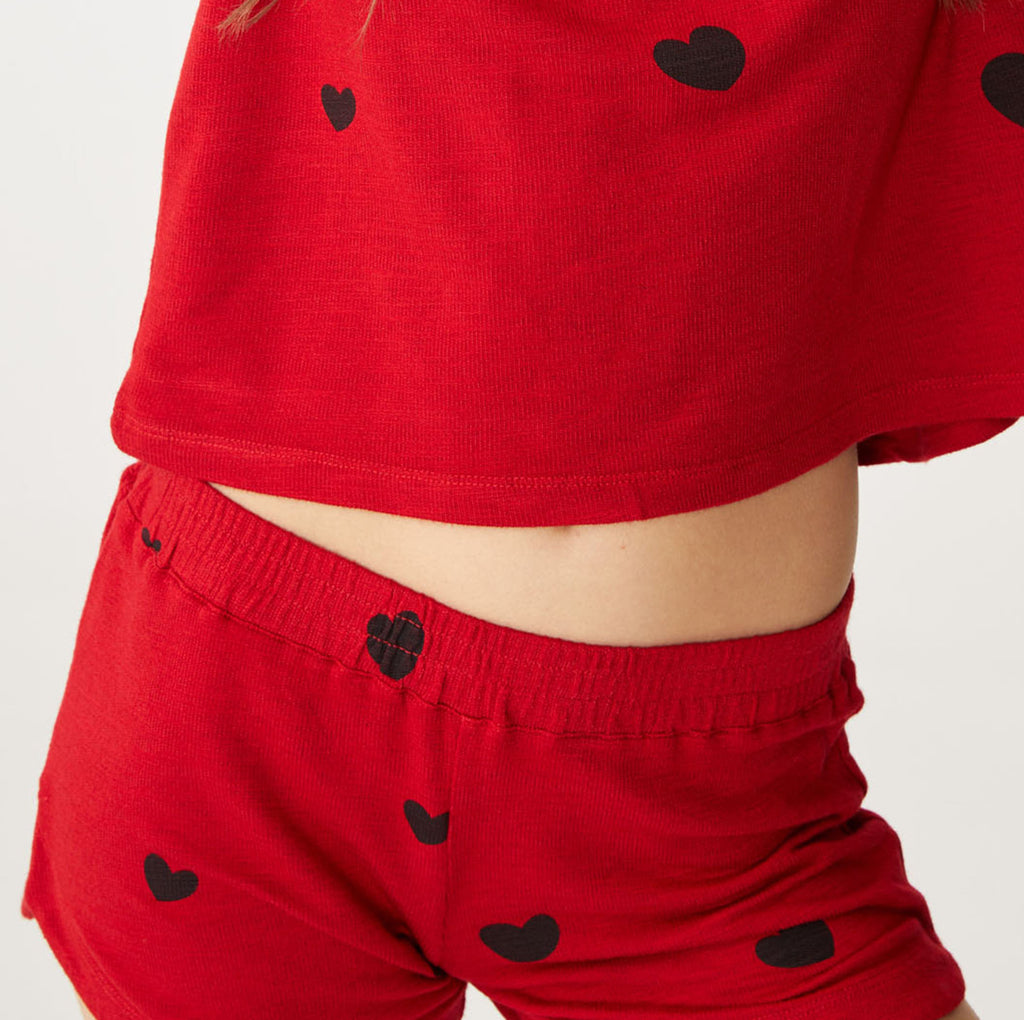 Supersoft Scattered Heart Shorts