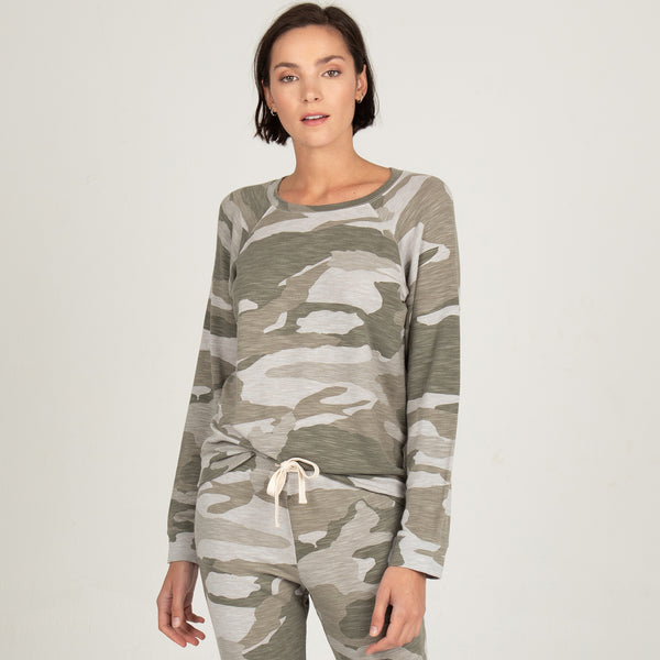 Supersoft Oversized Camo Vintage Raglan