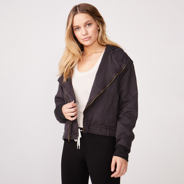 Hooded Moto Jacket