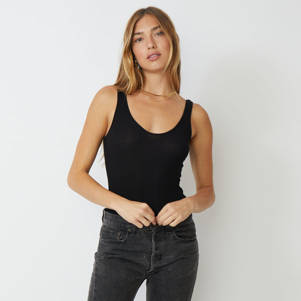 Narrow Rib Tank Bodysuit