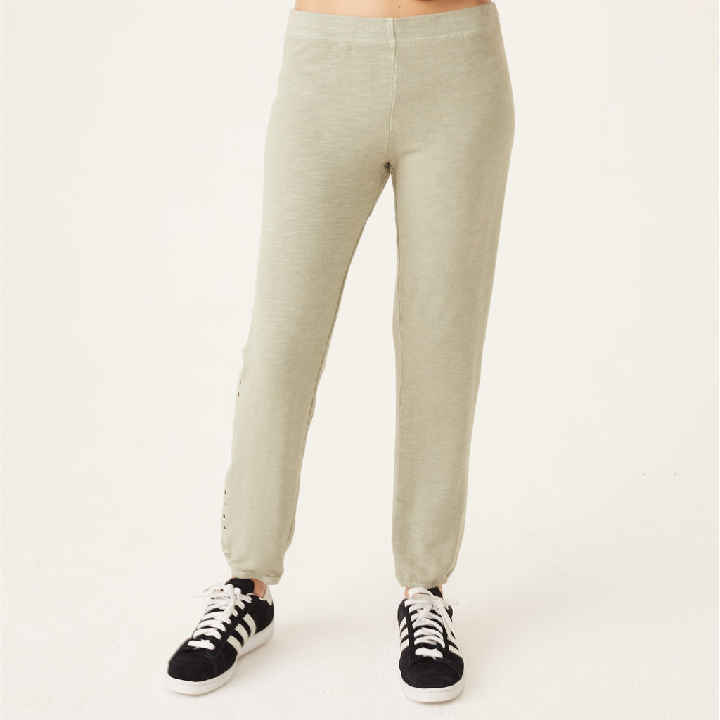 Supersoft Triangle Cutout Elastic Waist Sweats