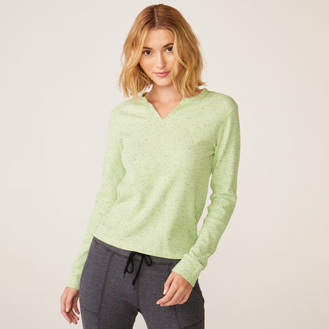Long Sleeve Open Neck Top