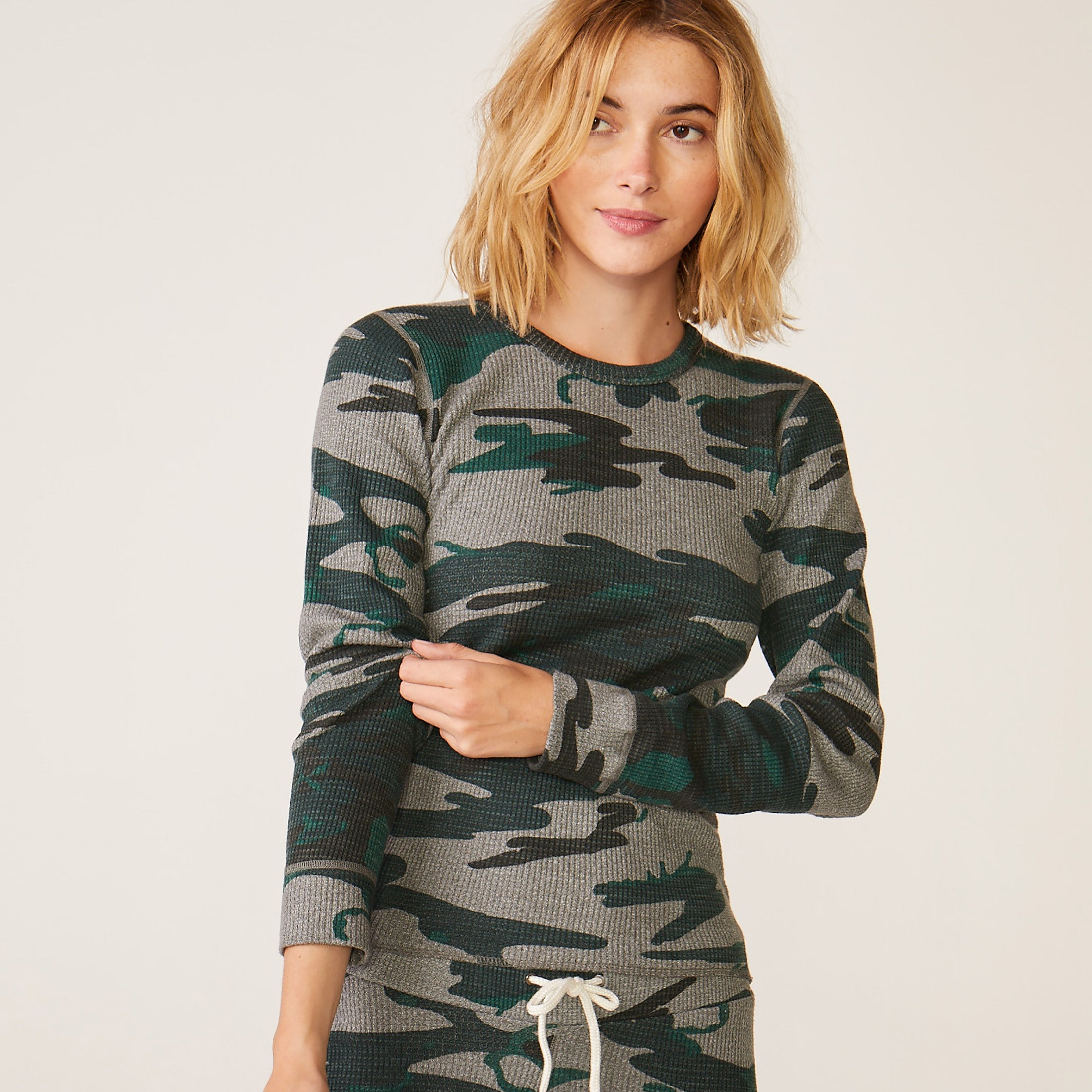 Vintage Camo Long Sleeve Thermal
