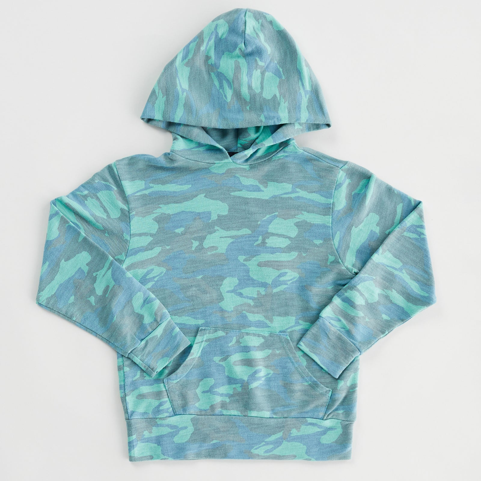 Kids Supersoft Camo Pullover Hoody (6089383477430)