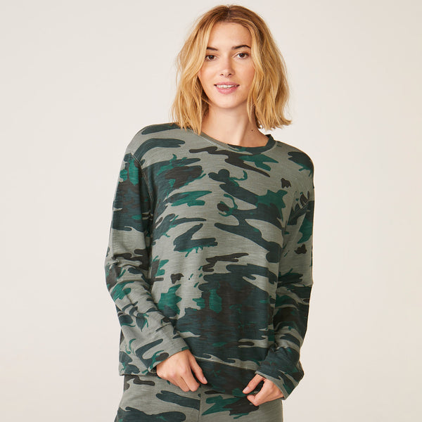 Supersoft Vintage Camo Oversized Sweatshirt