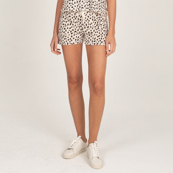 Cheetah Stitched Waist Shorts