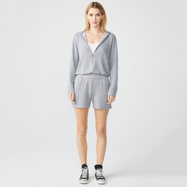 Heather Supersoft Zip Up Romper