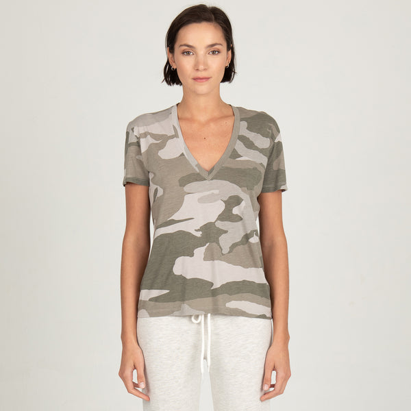 Oversized Camo Relaxed V