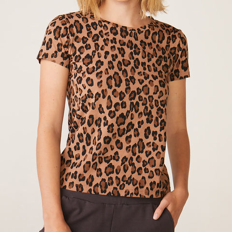 Natural Leopard 90's Tee