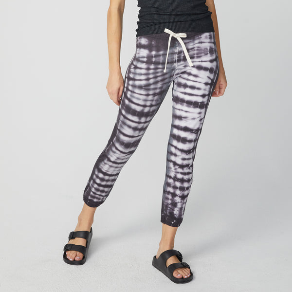Alligator Tie Dye Elastic Waist Sweats