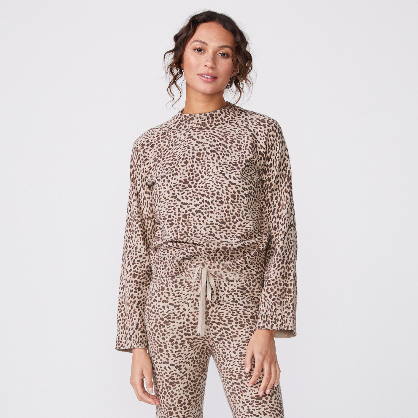 Mini Leopard Mock Neck Long Sleeve (6147257270454)