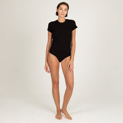 Rib Short Sleeve Bodysuit