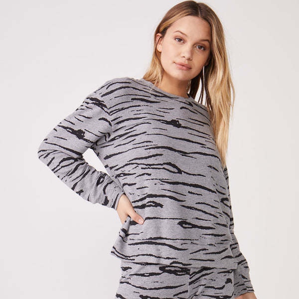 Supersoft Tiger Boyfriend Sweatshirt
