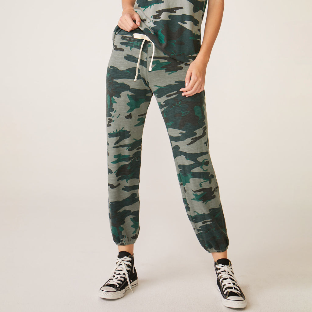 Supersoft Vintage Camo Stitched Elastic Sweats