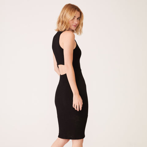 Cut Out Back Mesh Dress (3519305187430)