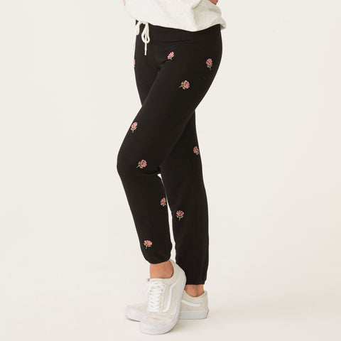 Supersoft Embroidered Rose Vintage Sweats