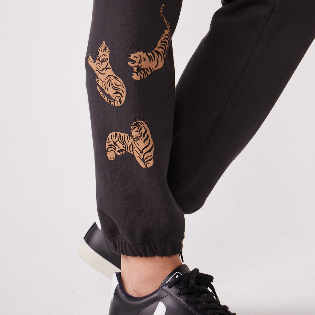 Printed Tiger Boyfriend Sweats