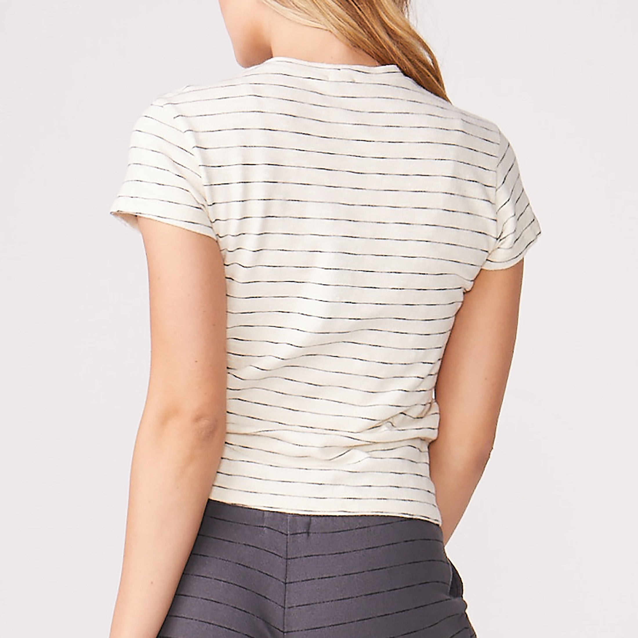 Stripe Relaxed Basic Crew