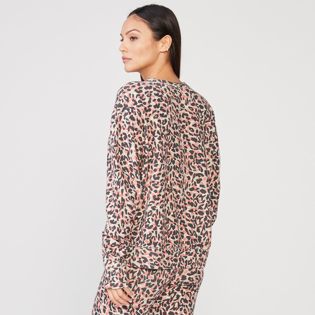 Animal Print Boyfriend Sweatshirt