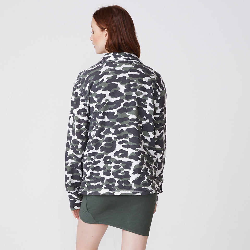 Animal Camo Shirt-Jacket