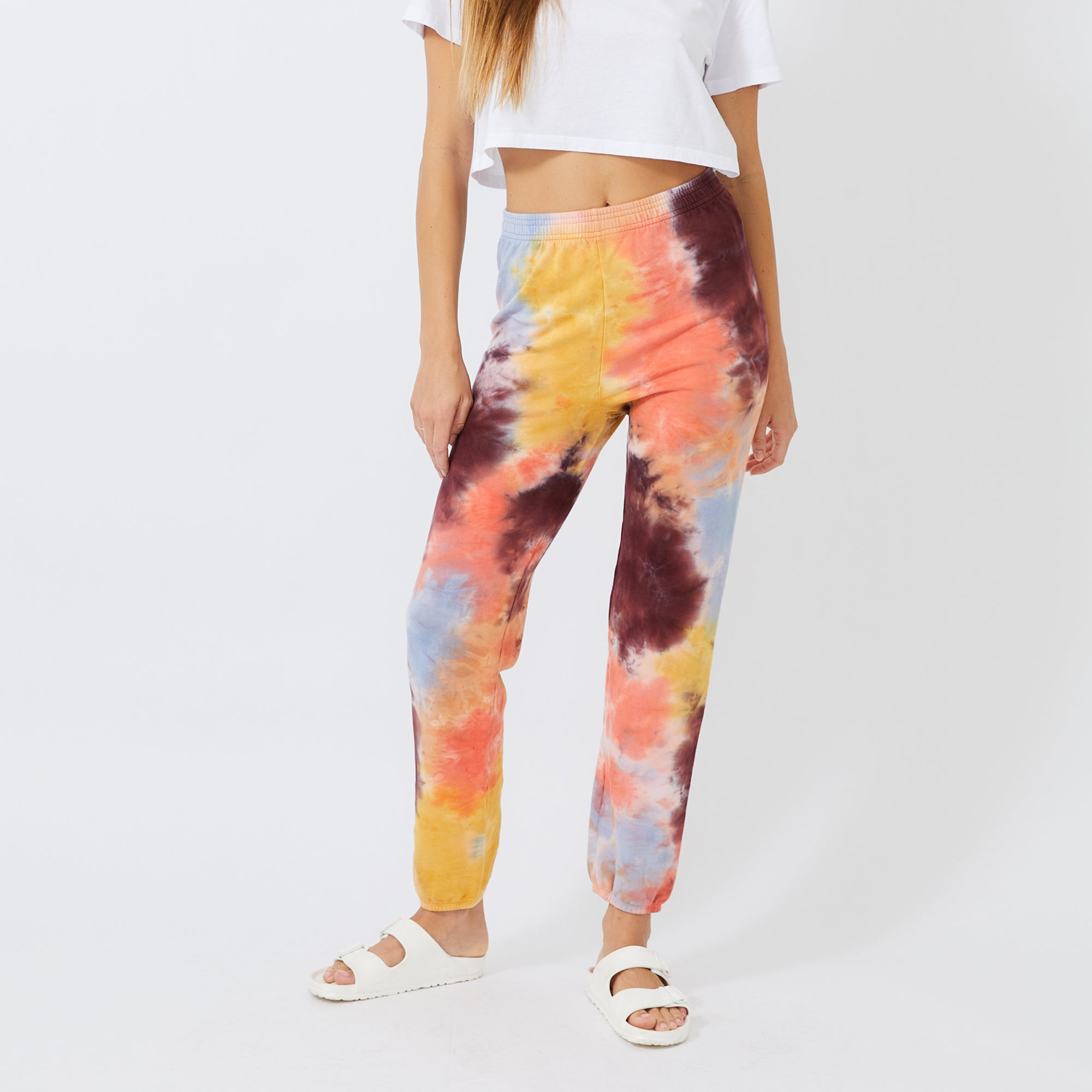 Coral Reef Tie Dye High Waisted Sweats