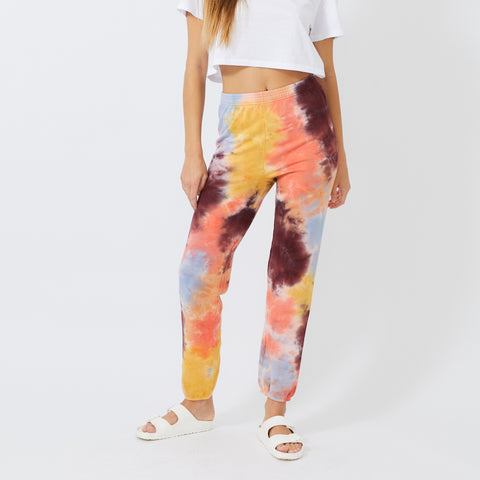 Coral Reef Tie Dye High Waisted Sweats (4926152147046)