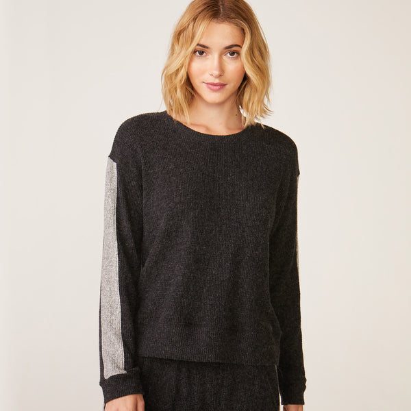 Side Stripe Relaxed Sweatshirt