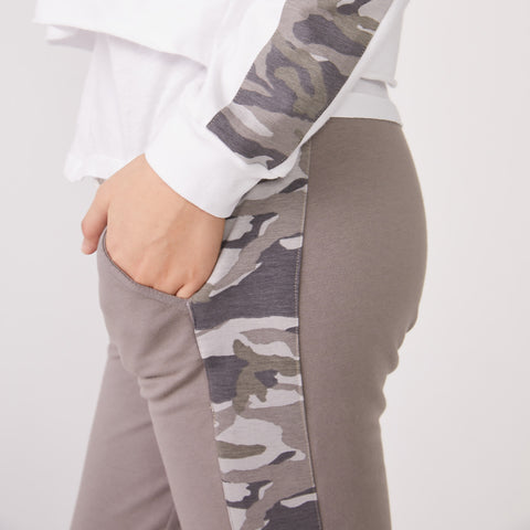 Camo Side Stripe Sporty Sweats