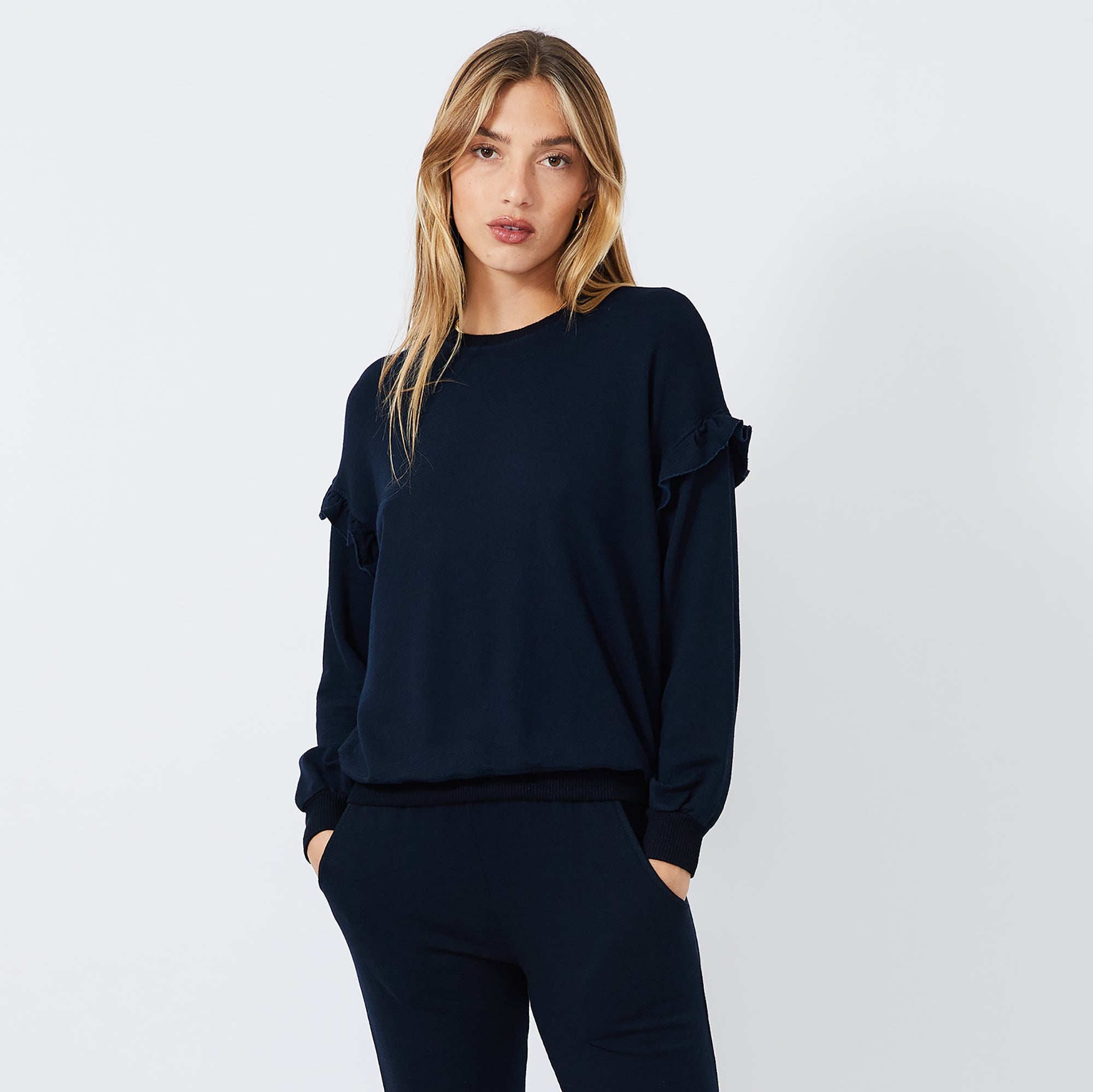 Supersoft Ruffle Sweatshirt (4922459422822)