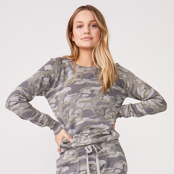 Camo Raglan Sweater