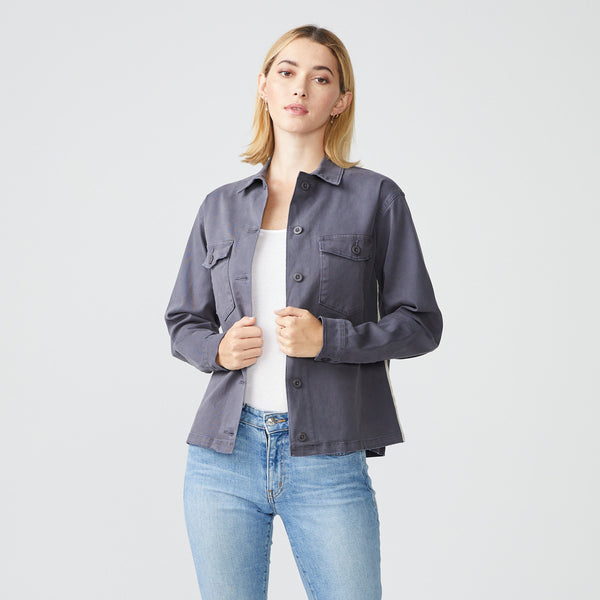 Side Stripe Military Jacket