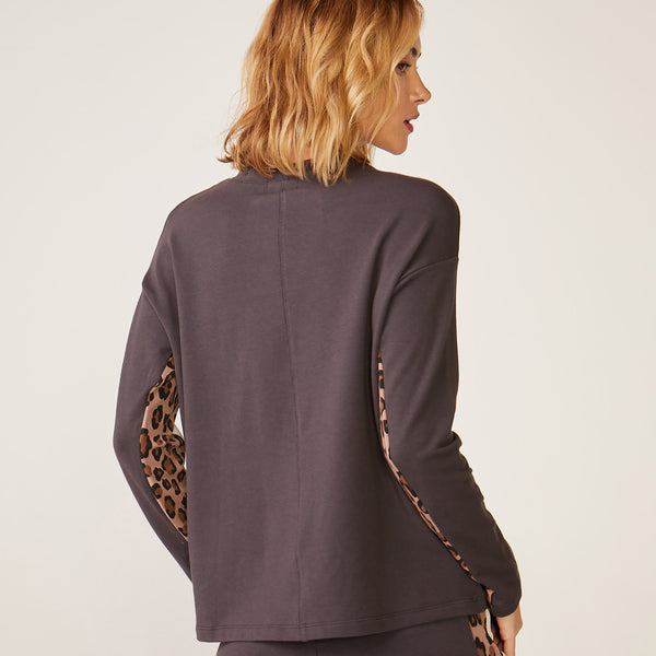 Paneled Natural Leopard Long Sleeve